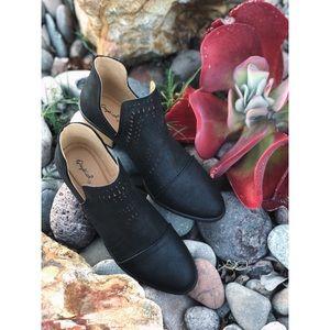 Black Slip-On Ankle Booties